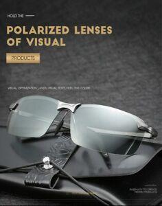 Photochromic Slim Sunglasses Men Women Polarized Driving Chameleon Change Colour