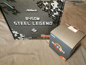 ASRock b450m Steel Legend Micro-ATX Motherboard with Bundled Ryzen 7 2700x CPU