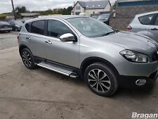 To Fit 2014+ Nissan Qashqai Polished Aluminium Side Running Boards Skirt Silver