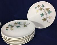 "Dinner Plate Carefree True China Woodbine by SYRACUSE 10"" 1959-1970 SEVEN"