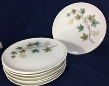 """Dinner Plate Carefree True China Woodbine by SYRACUSE 10"""" 1959-1970 SEVEN"""