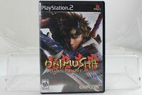 Onimusha Dawn of Dreams Sony PlayStation 2 PS2 System Game & Box