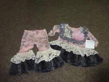 $$$$$ NWT NEW HIGH END BOUTIQUE GIGGLE MOON 3M 3 MONTHS FAUX FUR DRESS PANT SET