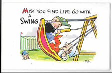 May You Find Life Go With a Swing ES Artist Signed PPC Unposted Pictorial