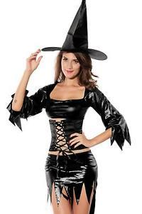 Womens Fancy Dress Witch Mama Halloween Hen Night Party Costume Ladies UK 8-10