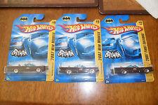 (3) BRAND NEW SEALED Hot Wheels Batman 2007 New Models First Editions Cars HTF