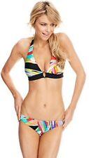 Trina Turk Prisma Halter Bikini Set O Ring Bottoms NWT Size 2 Top & Sz 4 Bottom
