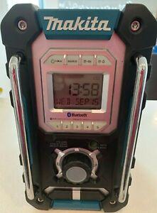 MAKITA Bluetooth Job Site RADIO SKIN 18V DMR106 Blue, Good Condition Heavy Duty