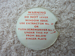 GPO BT P.O Original Used Telephone Dial Warning Label 312 300 Series Old phone