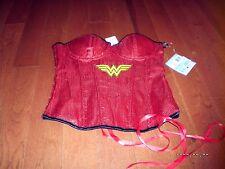 Wonder Woman Lingerie Sequin Corset- Medium NEW NWT SUPER HERO SEXY!! Costume