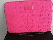 "13"" Marc by Marc Jacobs Pink  Neoprene Macbook Case 100% Authenti"