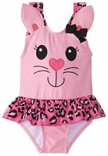 NWT Candlesticks Baby Girls Kitty Pink Swimsuit Pink, Size 18 Months