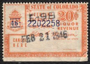 20c Colorado Liquor Revenue, Used [4] ANY 4=