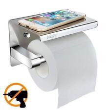 Telgoner Toilettenpapierhalter Ohne Bohren Mit Ablage WC Papier Halterung