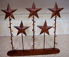 5 Rust Barn Star Rustic farmhouse distressed Pedestal Berries Country Americana