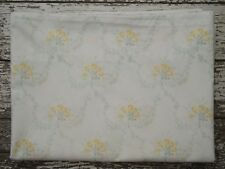 SIMPLY SHABBY CHIC Yellow Rose Flat Sheet Twin Size Floral Cotton Green Vine