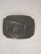Brass Coulter Crane Belt Buckle