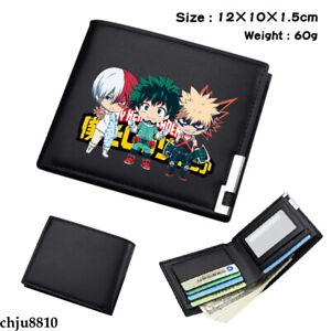 Anime My Boku no Hero Academia PU Wallet Bifold Short Purse Unisex Coinbag Gifts