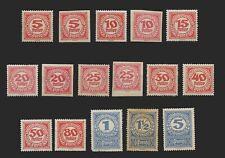 LA13-Austria 1919  issue  postage due stamps