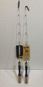 "Set Of 2 New Frabill Medium Ice Hunter Ice Fishing Rod 27"""