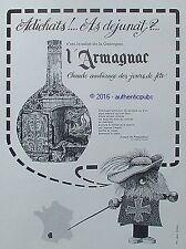 PUBLICITE ARMAGNAC JOSEPH DE PESQUIDOUX MOUSQUETAIRE CHAT DE 1967 FRENCH AD PUB