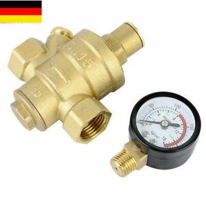Druckminderer DN15 1/2'' Wasser Messing Druckregler Reduzierventil Manometer DE