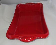 Glitzy Red Diamond Rhinestone Casserole Baking Dish Donatella Arpaia Festive!