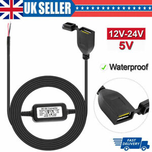 Waterproof Motorcycle 12v USB Power Socket Adapter Charger Outlet Motorbike