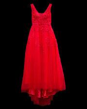Elegante Rosso Lunghezza Intera Abito Da Sera Ballo Festa Di Natale