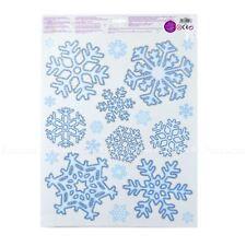 Christmas Window Sticker Snowflake REUSABLE Xmas Home Decoration Glitter BULK