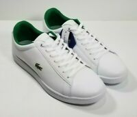 🔥NEW! Lacoste Hydez Men's SZ 10.5 White Leather Lace Up🔥