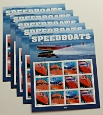 Five x 12 = 60 Vintage Mahogany SPEEDBOATS 41¢ US Postage Stamps. Sc # 4160-4163
