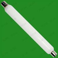 6x 60W 221mm Opal Double Ended Cap Tubular Lamp, S15 Linear Strip Light Bulbs