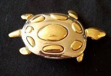 Turtle Pin Brooch Gold Tone and Silver Tone
