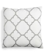 "Charter Club 18"" Square Decorative Pillow Damask Designs Geo Dove E92181"