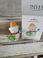 Hallmark sweet snowman 2019 ornament limited edition Xmas holiday tree New
