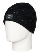 NWT Quiksilver Mens GET RADICAL Cuff Beanie Hat - Black - OSFM