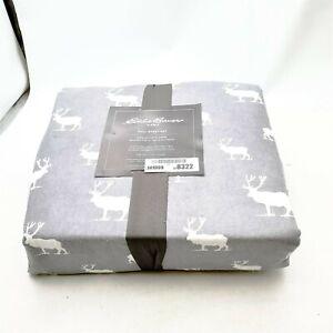 Eddie Bauer Flannel Collection Premium Cotton Bedding Sheet Set, Full, Elk Grove