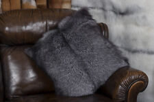 1385 Small Blue Frost Fox Pillow Genuine Fur Pillow Real Fur Fox Fur Cushion