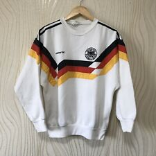 GERMANY 1990 1992 FOOTBALL SOCCER TRACK TOP SWEATSHIRT ADIDAS VINTAGE sz XS