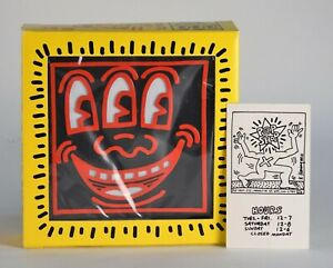 Keith Haring Pop Shop RED 3 EYES Radio Rare Unused in Original Box /1985 + Card