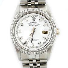 Mens Rolex DateJust 1601 36mm Stainless Steel Jubilee Diamond Bezel Watch