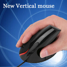 USB Vertical Ergonomic Optical Wired Mouse Wrist Healing For Computer PC New
