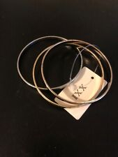 """Forever 21 Thin Bangles Bracelets Gold/silver/rose Gold """"peace Hope Love"""" New"""