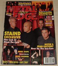 METAL EDGE JUNE 2001 PANTERA MEGADETH DAVID BRYAN SEPULTURA BUCKCHERRY STAIND