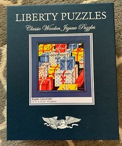 "LIBERTY Wooden Jigsaw Puzzle NEW ""Brightly Colored Gifts"" 531 pieces Birthday"
