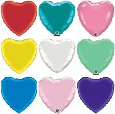 """18"""" Heart Shape Love Foil Mylar Solid Colors Party Balloon Wedding Decorations"""