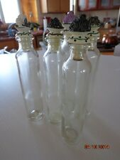 5 Tall Empty mini Glass Bottles with Vegetable Stoppers for Infused Oils Vinegar