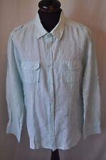 Lee Cooper blue pin stripe western shirt size XL cowboy rockabilly grunge