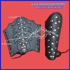 Bracers Ancient Armour Medieval Leather Arm Guard Roman Vambraces Pair Black